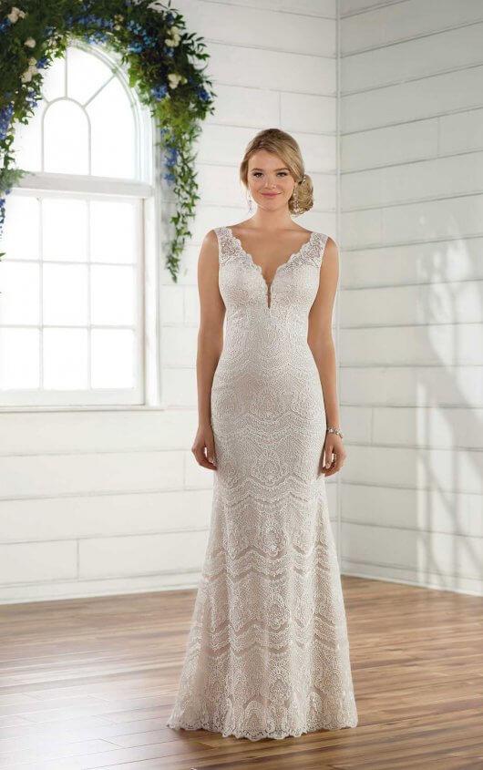 Essensed2495andreas Bridal Sheath Wedding Dress Plus Size Wedding