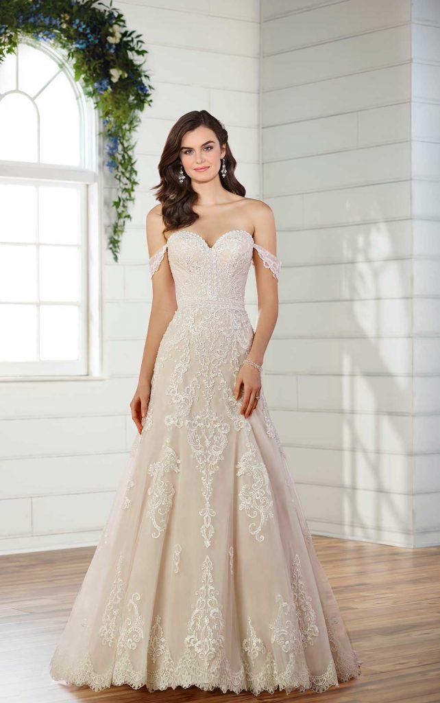 D2525f Essense Of Australia Andreas Bridal Plus Size Wedding Dress