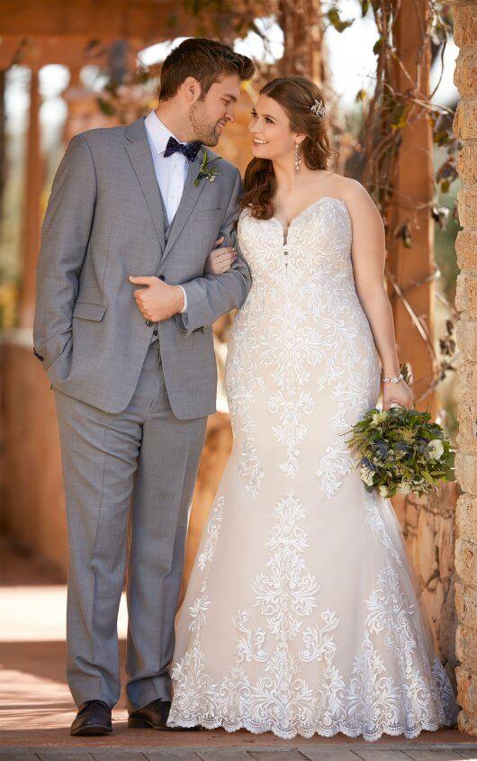 D2424 Essense Of Australia Plus Size Wedding Dress Andreas Bridal